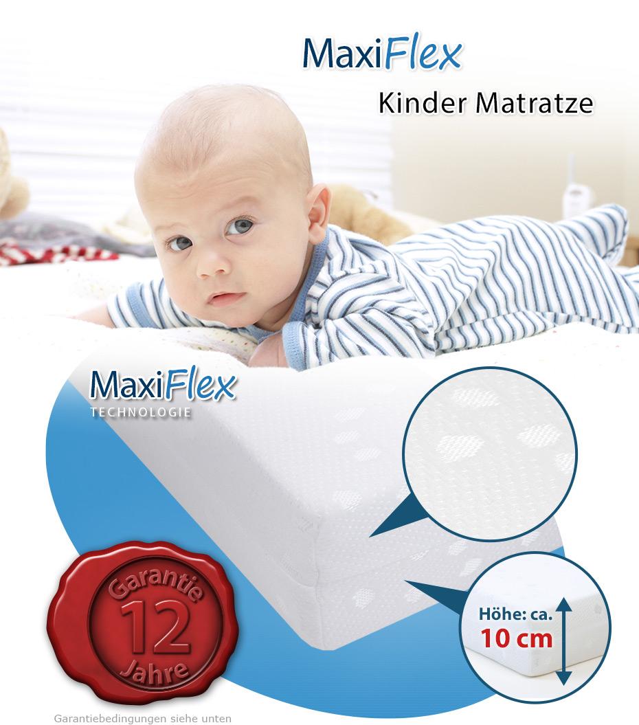 kindermatratze maxiflex basic 60 x 120 cm 60x120 120x60 ebay. Black Bedroom Furniture Sets. Home Design Ideas